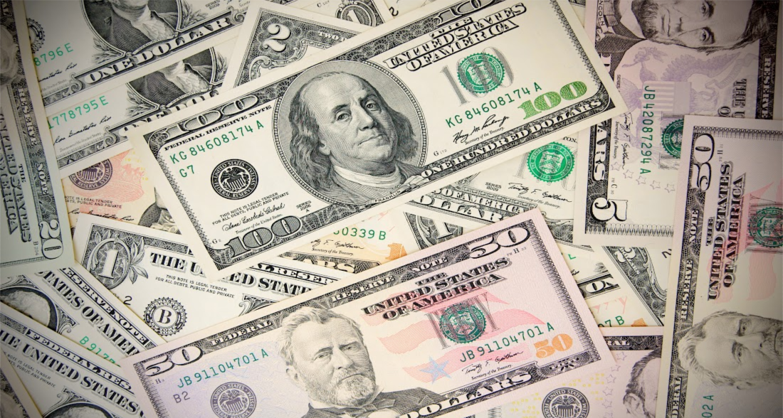 Picture showing paper money