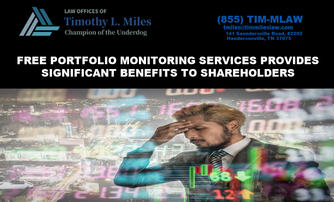 FREE PORTFOLIO MONITORING SERVICES PROVIDES SIGNIFICANT BENEFITS TO SHAREHOLDERS