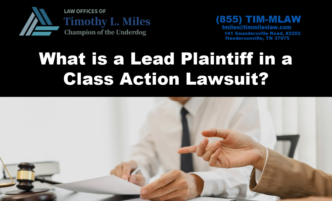What is a Lead Plaintiff in a Class Action Lawsuit?