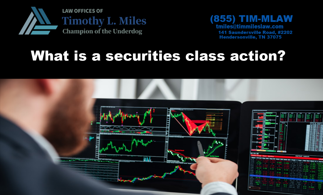 What is a securities class action?